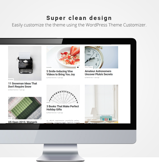 Simple & clean WordPress themes for blogs