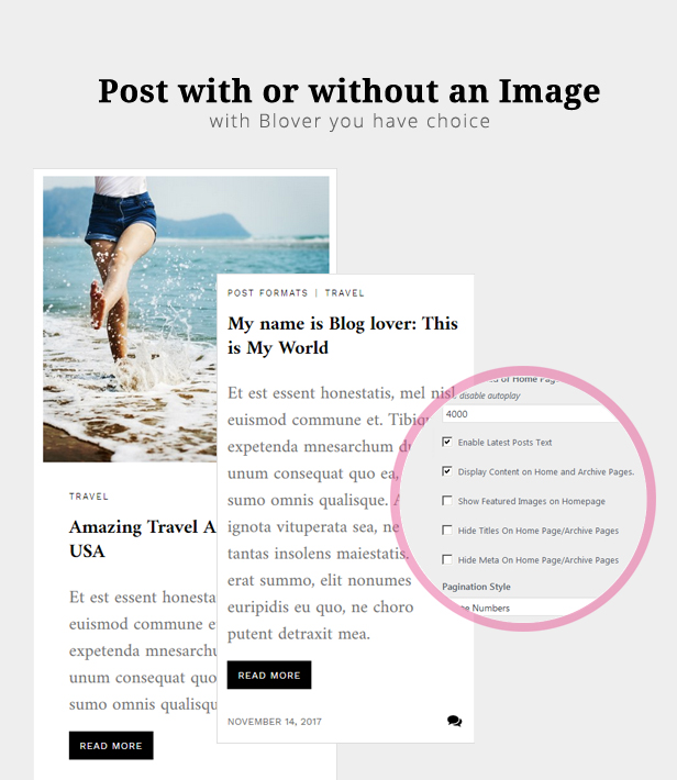 WordPress themes for blogs