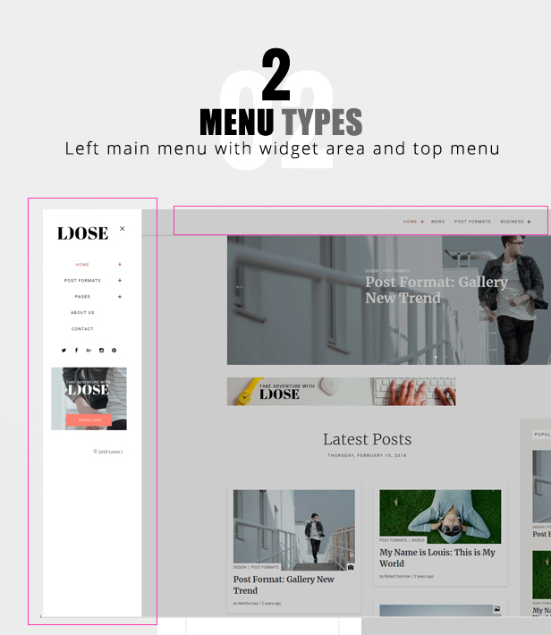 Loose WordPress template