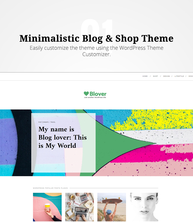 Blover the best Wp theme for free