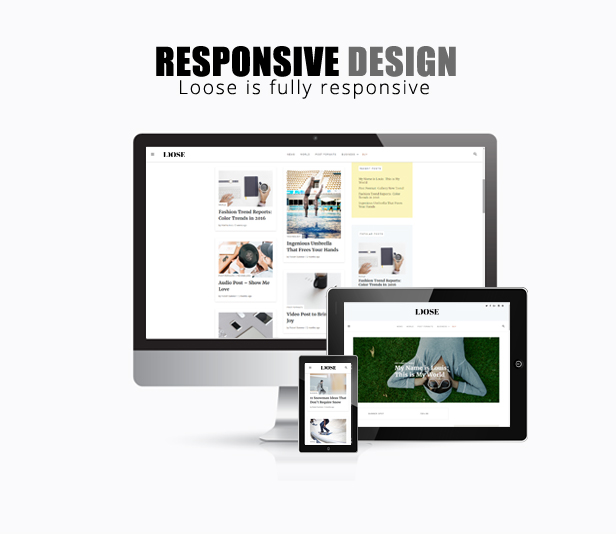 WordPress theme template - Loose