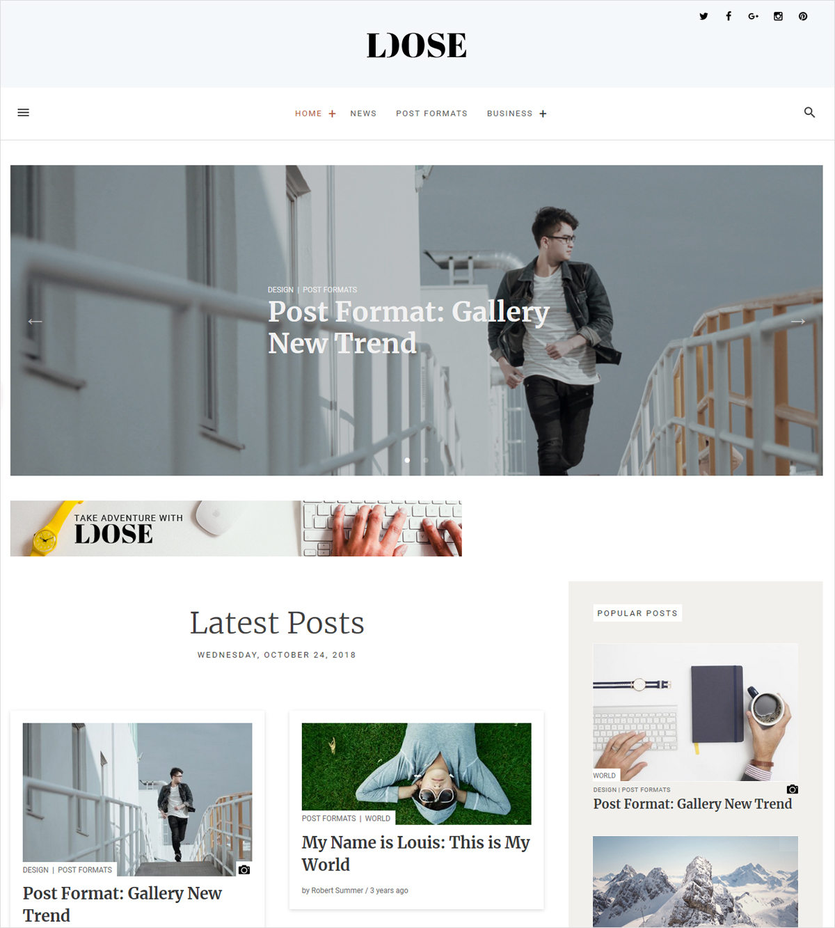 Loose free responsive wordpress theme